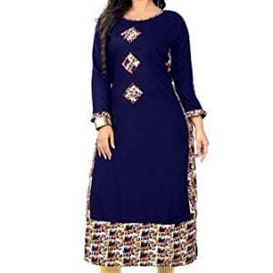 vbuyz womens rayon straight kurti vb ku 164 42bluex large