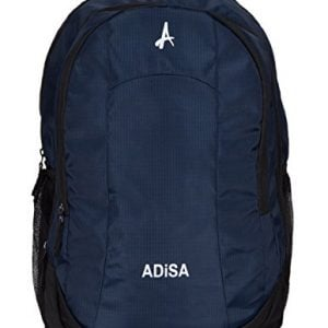 adisa bp005 navy blue light weight 35 ltrs casual laptop backpack