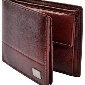 am leather brown mens wallet