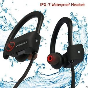 crossbeats wave waterproof bluetooth wireless earphones for mobile with mic