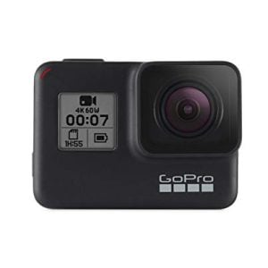gopro hero 7 camera with splash bag and 3 way grip black
