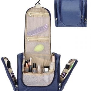 house of quirk modern navy blue toiletry bag