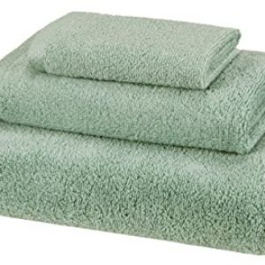 amazonbasics quick dry 3 piece towel set seafoam green