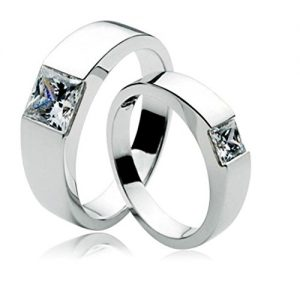anvi jewellers platinum plated couple ring for men women