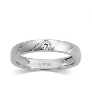 carats for you 950 platinum and diamond ring for women