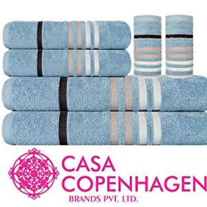 casa copenhagen exotic 500 gsm premium egyptian cotton 6 pcs towel set