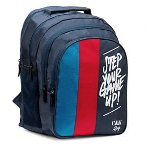 chris kate big 42 litres comfortable blue red casual laptop bag college