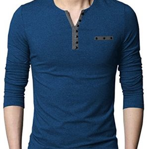 eyebogler mens buttoned cotton navy melange t shirt m ntb nmnavymelange 1