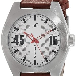fastrack analog silver dial mens watch nk3110sl01 1