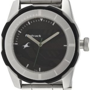 fastrack economy 2013 analog black dial mens watch nk3099sm04 2