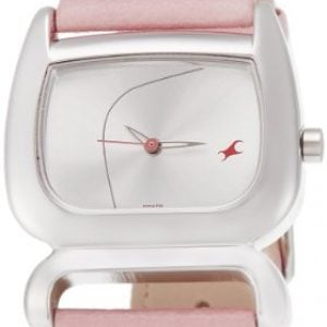 fastrack fits and forms analog silver dial womens watch nk6091sl01 1