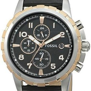 fossil chronograph black dial mens watch fs4545 1