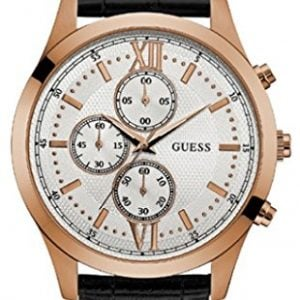 guess hudson analog white dial mens watch w0876g2 1