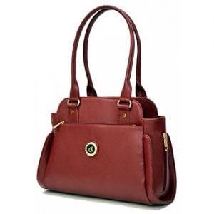 inkdice maroon womens handbag office casual purse shoulder bag 1