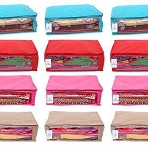 kuber industries 12 piece non woven saree cover multicolour 2