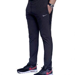 nlke unisex dri fit single piece poly lycra trackpants black large 2