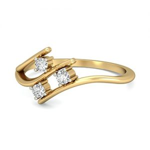 pc jeweller the yamila 18kt yellow gold diamond rings