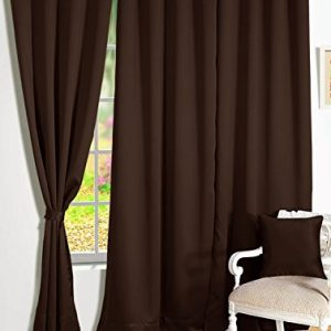 storyhome room darkening blackout plain faux silk premium solid 2 piece 1