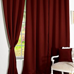 storyhome room darkening blackout plain faux silk premium solid 2 piece
