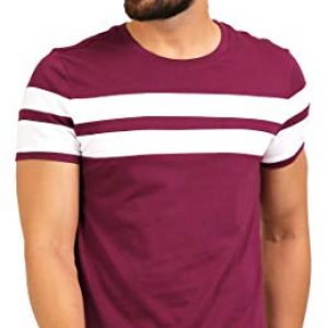aelo mens cotton t shirt amt1020 pn maroon small