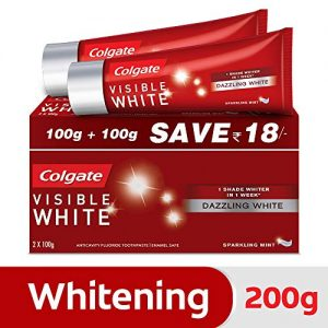 colgate visible white dazzling white toothpaste sparkling mint 200gm