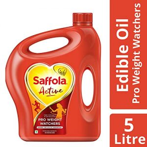 saffola active pro weight watchers edible oil jar 5 l