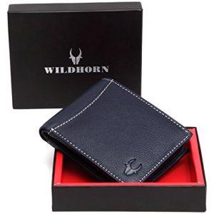 wildhorn blue mens wallet wh1254