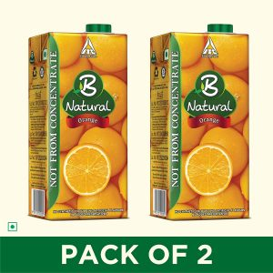 b natural orange juice 1l pack of 2