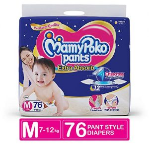 mamypoko pants extra absorb diaper medium pack of 76