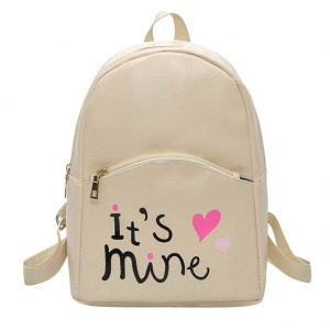 bizarre vogue cute medium its mine printed style backpack college bag for