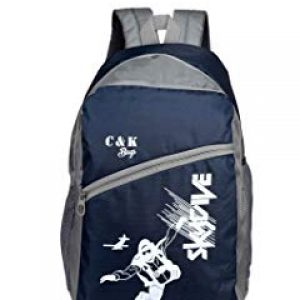 chris kate polyester 30 l blue grey spacious comfort casual backpack laptop