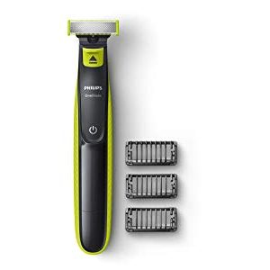 philips qp252510 oneblade hybrid trimmer and shaver with 3 trimming combs