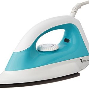 amazon brand solimo 1000 watt dry iron white and turquoise