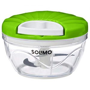 amazon brand solimo 500 ml large vegetable chopper with 3 blades green