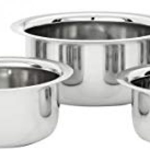 amazon brand solimo stainless steel tope set 5 pieces induction and gas
