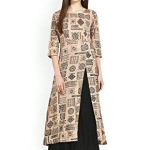 anjushree choice womens cotton printed stitched a line kurti