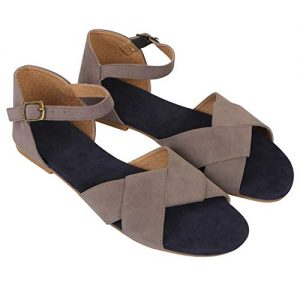 bk dream women grey flat sandals