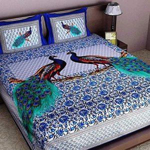 ealth kart 144 tc 100 cotton rajasthani jaipuri double bedsheet with 2