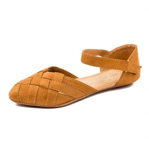 footshez suede crossover flat bellie sandals for women girls