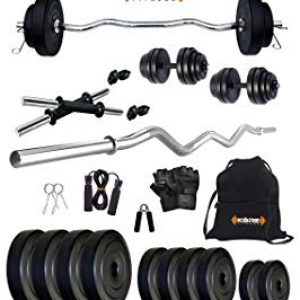 kore k pvc 20kg combo 3 leather home gym and fitness kit