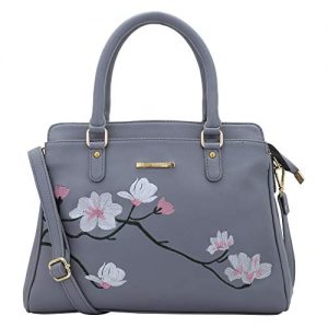 lapis o lupo flower embroidery women handbag grey