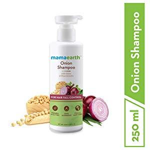 mamaearth onion hair fall shampoo for hair growth hair fall control with