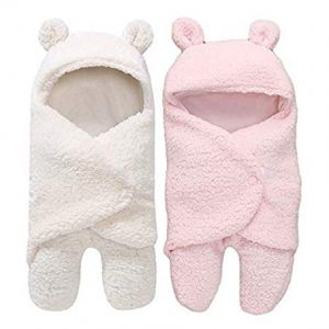 my newborn 3 in 1 baby blanket pack of 2 whitepink