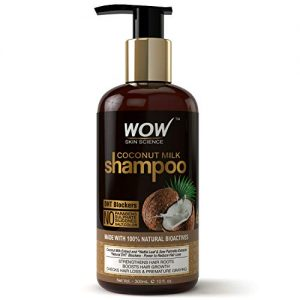 wow coconut milk no parabens sulphate silicone salt color shampoo 300ml