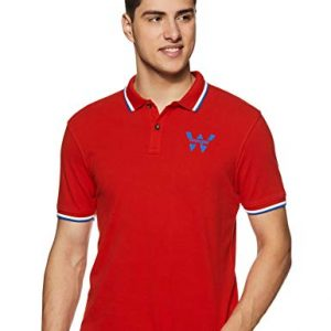wrangler mens solid regular fit polo w29608j07120jsw orangelarge